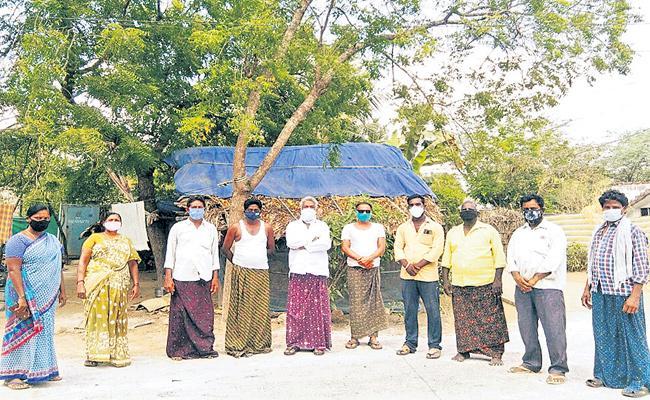 Special Story On Gudlavalleru villagers for covid prevention - Sakshi