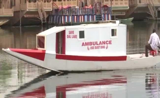 Dal Lake In Srinagar Gets Floating Ambulance Service To Aid Covid Patients - Sakshi