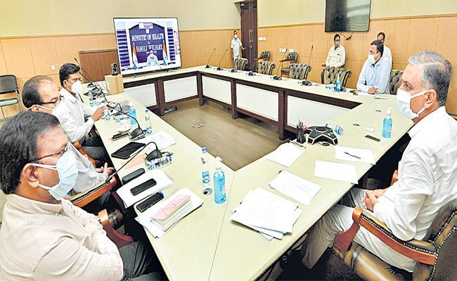 Harsh Vardhan Assures Enhancing Telangana Quota Of Oxygen Vaccines - Sakshi