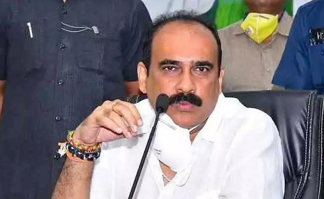 Minister Balineni Srinivasa Reddy Slams MP Raghu Rama Krishnam Raju - Sakshi
