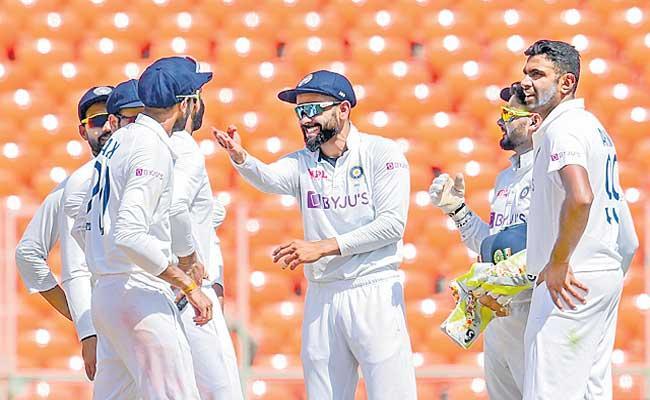 Team India stays on top of ICC Test team rankings - Sakshi
