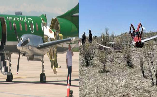 Two Small Planes Collide In Mid Air In Colorado - Sakshi