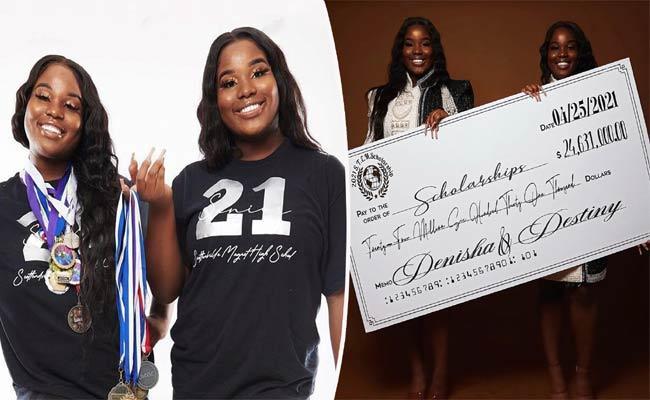 Twin Sister Gets 24 Million Dollars College Scholarships - Sakshi