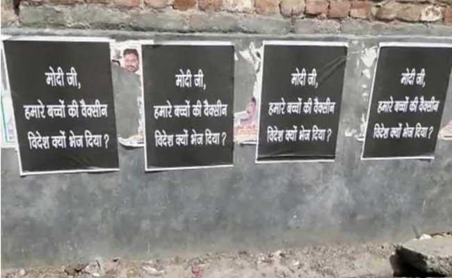 Delhi Police arrests 9 over posters against PM - Sakshi