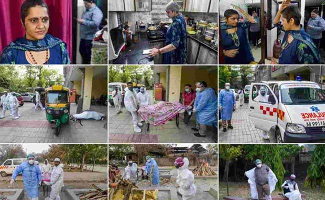 Ambulance Couple Helping Corona Patients With Ambulance In Delhi - Sakshi