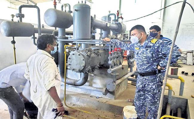 Navy repairs to 2 oxygen plants - Sakshi