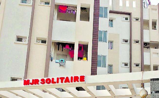 MJR Solitaire Apartment People Protect From Coronavirus - Sakshi