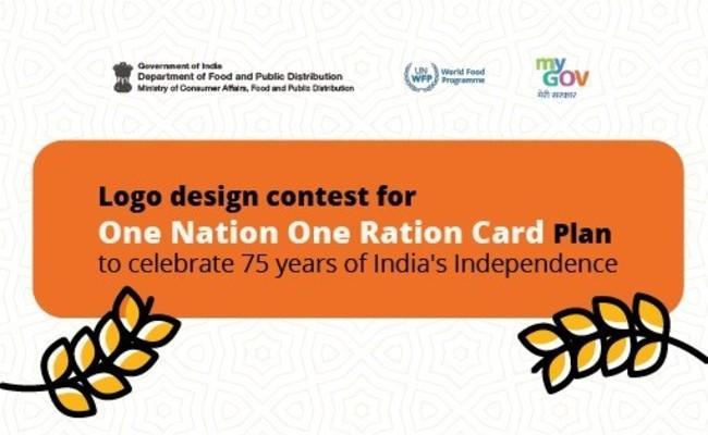 Logo Design Contest for One Nation One Ration Card Plan - Sakshi