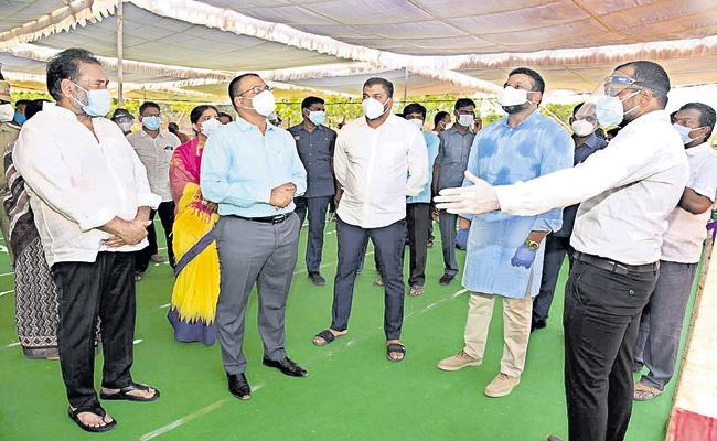 Extra beds with German sheds in Nellore - Sakshi