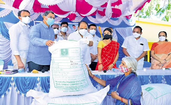 Commencement of Peanut Seed Distribution - Sakshi