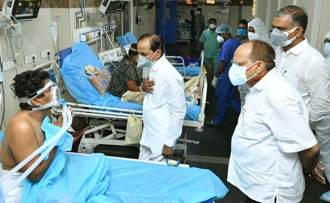 CM KCR Gandhi Hospital Visit For The First Time - Sakshi