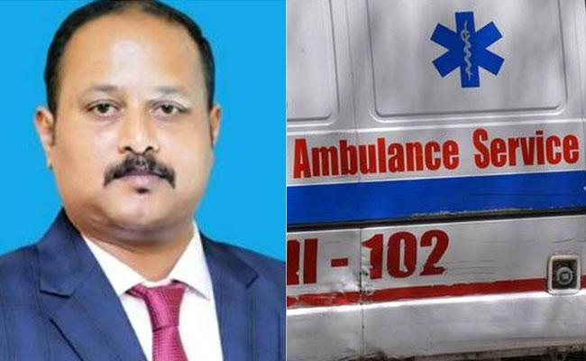 Officer Turned As Ambulance Driver In Mysore To Ferried Covid Victims - Sakshi