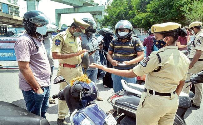 Hyderabad Police Files Case Over People Violate Lockdown Rules - Sakshi
