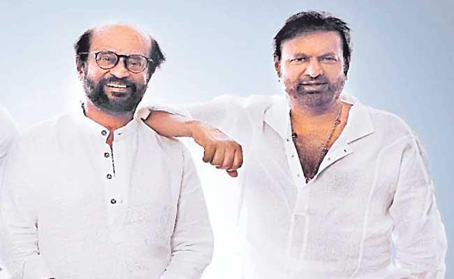 Original Gangsters Rajinikanth and Mohan Babu - Sakshi