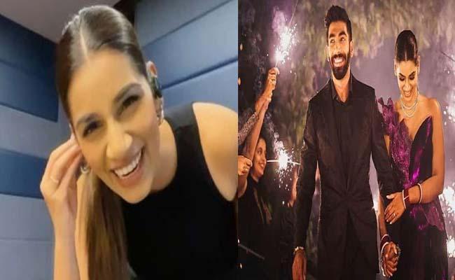 Sanjana Ganesan Jasprit Bumrah Wife Dance Video Goes Viral - Sakshi