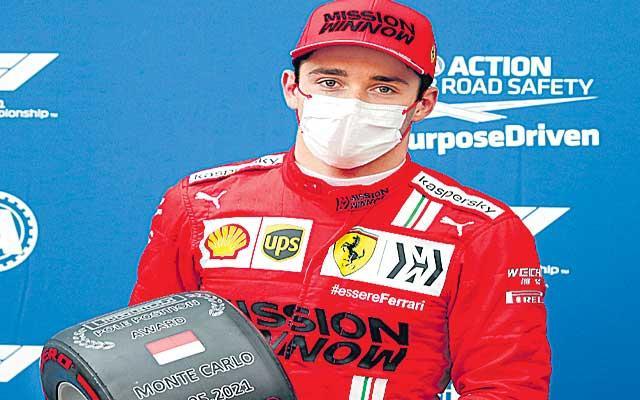 Charles Leclerc takes pole for Ferrari despite crashing at Monaco GP qualifying - Sakshi