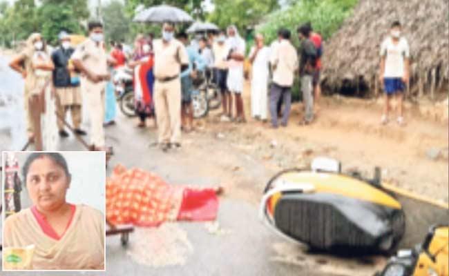 Woman Deceased In Road Accident - Sakshi