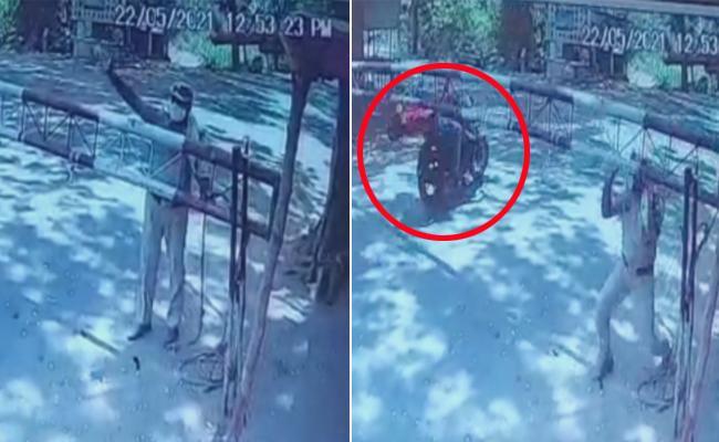 Mancherial : Bike Person Deceased Hit Check Post Stick Forest Officer - Sakshi