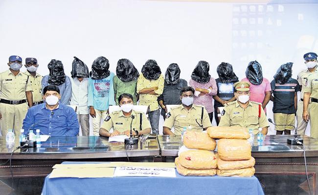 Seizure of marijuana and drugs in Kurnool - Sakshi