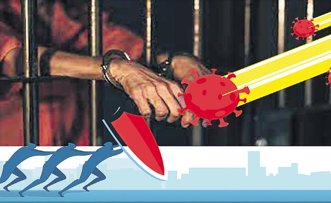 Department of Prisons is blocking the spread of Covid - Sakshi