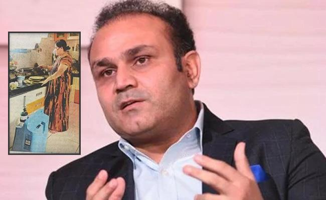 Virender Sehwag Offers Help To Woman Seen Cooking While Being On Oxygen Support - Sakshi