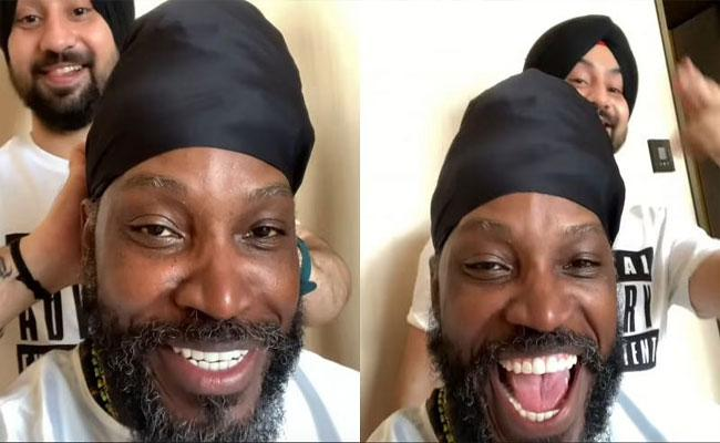 Chris Gayle Wears Turban For A Shoot Became Viral - Sakshi