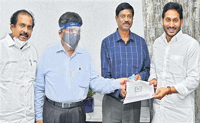 Rs 2 crore donation to CM Relief Fund - Sakshi