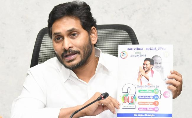 CM YS Jagan Released The Book On The Two Year Rule - Sakshi