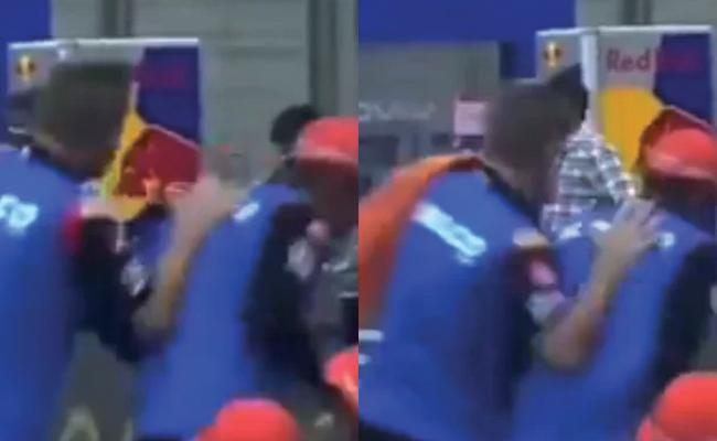 IPL 2021 SRH Vs RR David Warner Funny Fight Perform 12th Man Duties - Sakshi