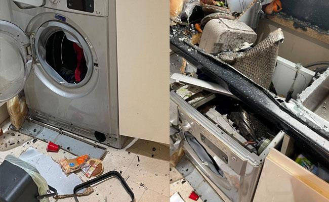 Shocking: Washing Machine Suddenly Exploded While Scottish Woman Was Washing Clothes - Sakshi