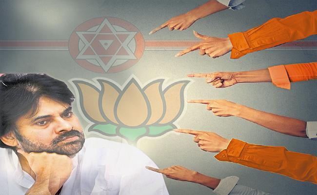 BJP Leaders Angry Over Pawan Kalyan - Sakshi