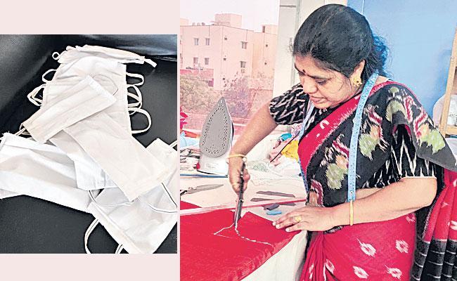 Humanity: Malkajgiri Woman Rajitha Raj Donated Three Layer Mask Old Age Homes - Sakshi