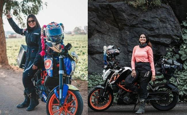 Mumbai Ridergirl Vishakha Prove Herself In Male Dominated Motovlogging - Sakshi