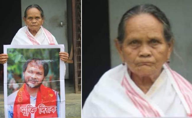 Priyada Gogoi To Campaigning For Her Jailed Son Akhil Gogoi - Sakshi