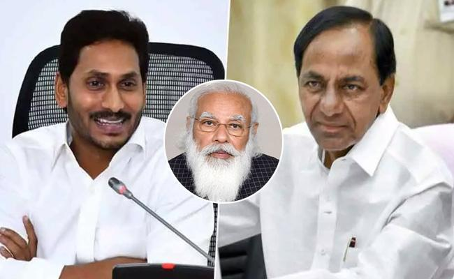 PM Narendra Modi Phone Calls To Telugu States CMs On Covid Situations - Sakshi