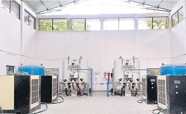 Liquid Oxygen Plant Available In Gandhi Hospital Hyderabad - Sakshi