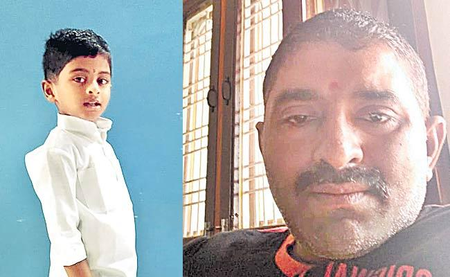 Throwing The Son Father Commits Suicide - Sakshi