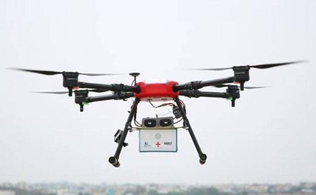 Centre Permits Telangana To Use Drones For Delivery of Corona Vaccines - Sakshi