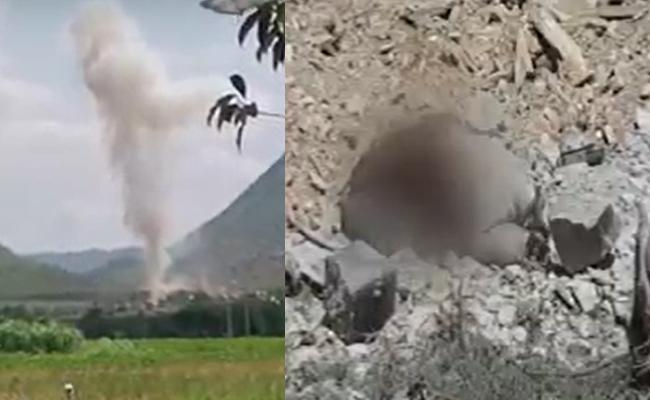 Bomb Blast In YSR District - Sakshi