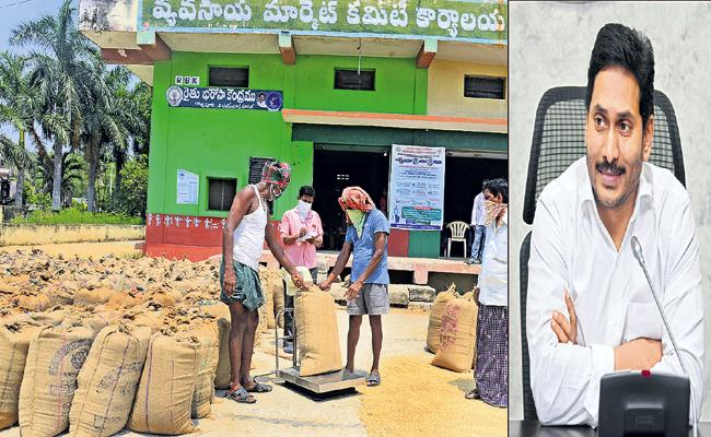 CM Jagan High Level Review on Grain Procurement, Door Delivery - Sakshi