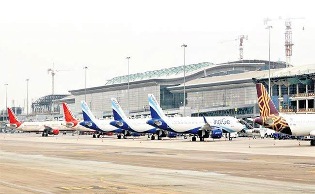 Restrictions, Covid-19 Force Cancellation Of 30 Hyderabad Flights - Sakshi