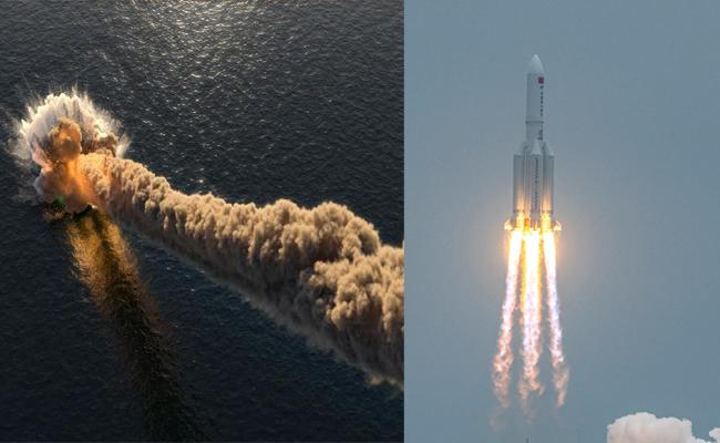 chineese rocket fallen in indian ocean - Sakshi