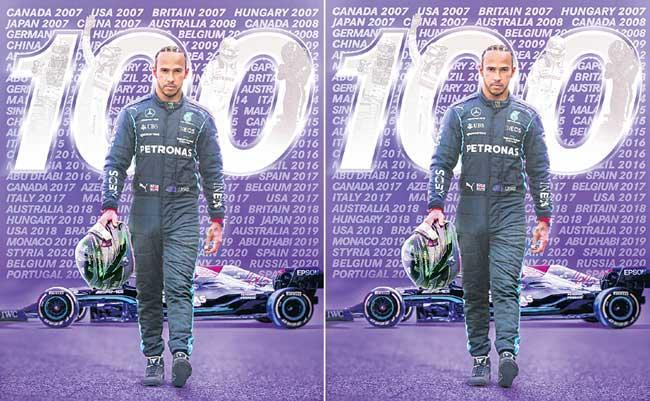 Hamilton beats Verstappen for 100th pole position - Sakshi