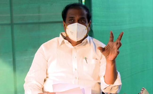 Kurasala Kannababu Press Meet on Action Plan On Coronavirus - Sakshi