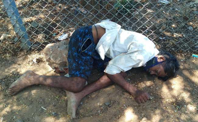 A Man Died Because Of Human Negligence At Visakhapatnam - Sakshi