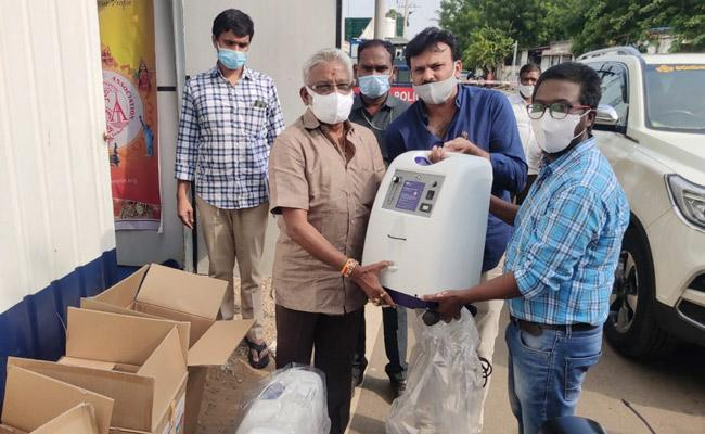America Telugu Association Donates Oxygen Concentraters To AP Government - Sakshi