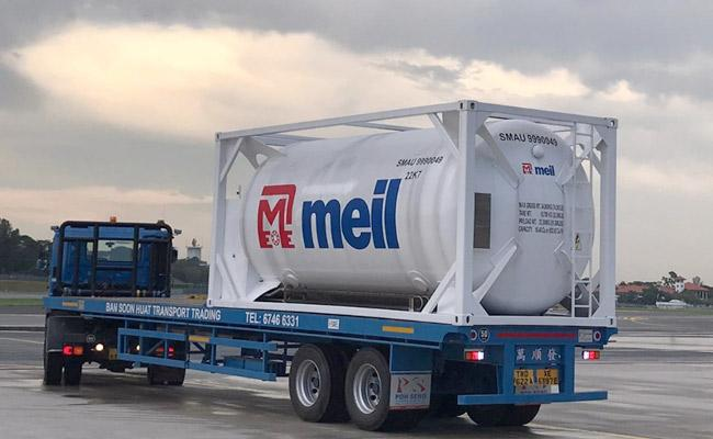 Megha Engineering Supplies Oxygen Cryogenic Tankers AP From Singapore - Sakshi