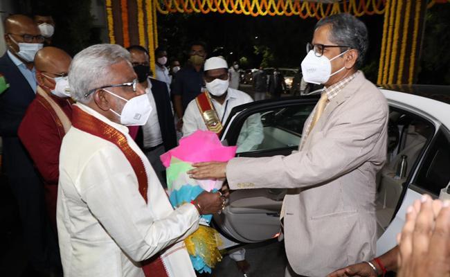 AP: CJI Justice NV Ramana Arrived Tirumala - Sakshi
