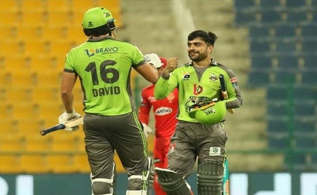 Rashid Khan Super Innigs Gives Thrilling Victory To Lahore Qalandars PSL - Sakshi