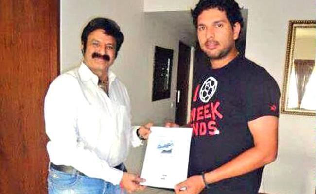 Former Cricketer Yuvraj Singh Birthday Wishes To Hero Balakrishna - Sakshi